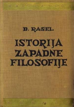 Istorija zapadne filozofije Bertrand Rasel tvrdi uvez