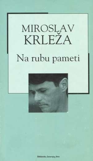 Na rubu pameti Krleža Miroslav tvrdi uvez