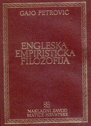 Engleska empiristička filozofija Gajo Petrović meki uvez