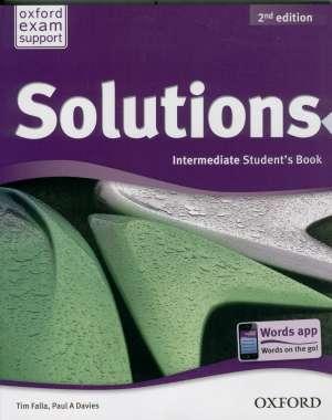 SOLUTIONS 2nd EDITION, INTERMEDIATE STUDENT S BOOK : udžbenik engleskog jezika B1+ za 1. ili 2. razred gimnazija, prvi (Kopiraj) autora Tim Falla, Paul A. Davies