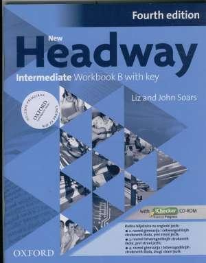 new headway  FOURTH edition  INTERMEDIATE  worbook B; radna bilježnica za engleski jezik,  3. razred 4-god. strukovnih autora John Soars, Liz Soars