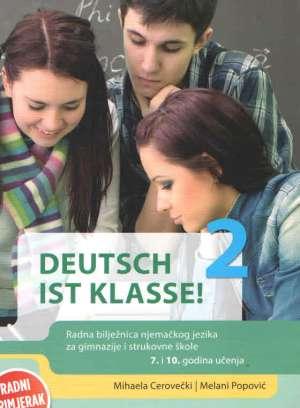 deutsch ist klasse ! 2 :radna bilježnica za njemački jezik u drugom razredu četverogodišnjih strukovnih škola - Mihaela Cerovečki, Melani Popović