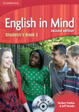 ENGLISH IN MIND 1 : Students Book 1 with DVD-ROM: za učenje engl. kao 1. str. jez. u 3.-god. i 2. str. jezika u 4.god. struko autora Herbert Puchta, Jeff Stranks