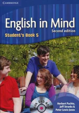 Herbert Puchta, Jeff Stranks, Peter Lewis-Jones - ENGLISH IN MIND 5 : Students book 5 with DVD-ROM: za učenje engleskog kao 1. stranog jezika