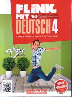 FLINK MIT DEUTSCH - NEU! 4 : udžbenik njemačkog jezika sa višemedijskim nastavnim materijalima u sedmom razredu osnovne škole - Jadranka Salopek, Plamenka  Bernardi-Britvec, Tihana Đaković