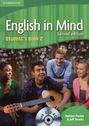 Herbert Puchta, Jeff Stranks - ENGLISH IN MIND 2: Student s Book 2 with DVD-ROM: Za učenje engleskog jezika