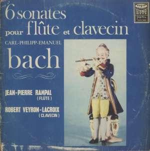 Gramofonska ploča Carl-Philipp-Emanuel Bach / Jean-Pierre Rampal, Robert Veyron-Lacroix 6 Sonates Pour Flûte Et Clavecin (6 Sonata Za Flautu I Klavičembalo) LSVG 70462, stanje ploče je 10/10