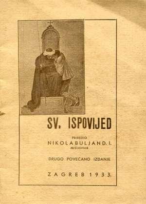 Nikola Buljan D.I., Priredio - Sv. Ispovijed