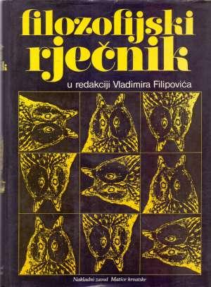 Filozofijski rječnik Vladimir Filipović Uredio tvrdi uvez