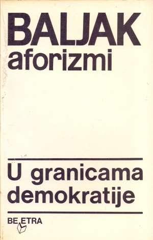 Aleksandar Baljak - Aforizmi