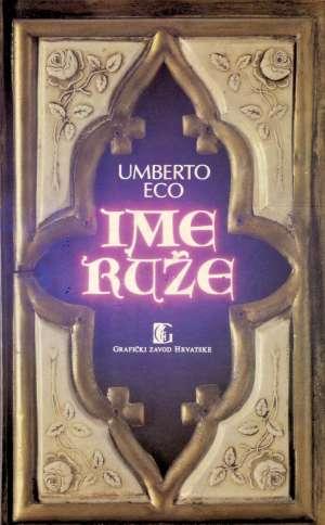 Ime ruže Eco Umberto tvrdi uvez
