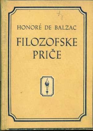 Balzac Honore De - Filozofske priče