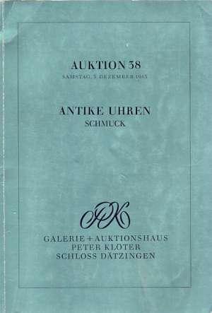 Auktion 38 antike uhren schmuck G.a meki uvez