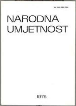 Narodna umjetnost 1976 - godišnjak instituta za narodnu umjetnost u zagrebu Dunja Rihtman Auguštin /urednik meki uvez