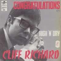 Congratulations / High 'N' Dry Cliff Richard D uvez