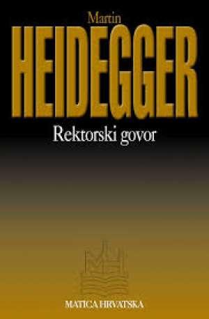 Rektorski govor Heidegger Martin meki uvez
