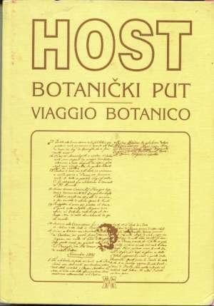 Botanički put viaggio botanico Josip Host tvrdi uvez