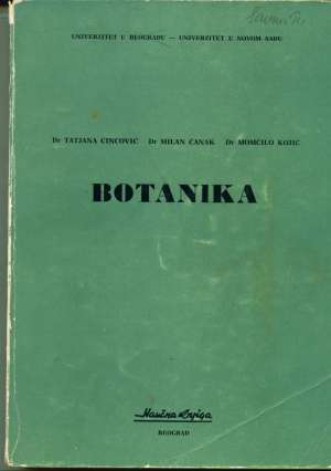 Tatjana Cincović, Milan čanak, Momčilo Kojić - Botanika