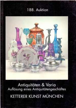 Antiquitaten & varia 188. auktion - Ketterer kunst Munchen G.a. meki uvez