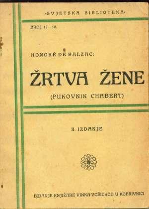 Balzac Honore De - Žrtva žene