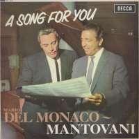 Gramofonska ploča Mario Del Monaco With Mantovani And His Orchestra A Song For You SKL 4510, stanje ploče je 9/10