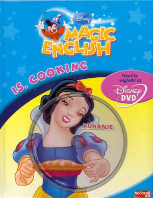 Isabelle Demolin/uredila - Magic english - 15. cooking (knjiga + dvd)*