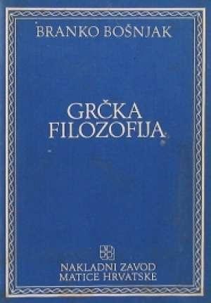 Grčka filozofija Branko Bošnjak meki uvez