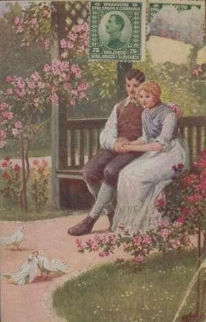 Muškarac i žena na klupi u parku Ostalo
