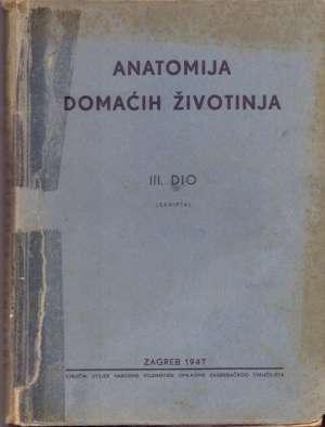 Anatomija domaćih životinja III. dio G.a meki uvez