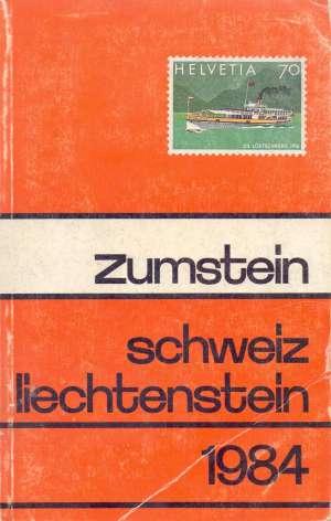 Zumstein - Schweiz Liectenstein 1984 G.a. meki uvez