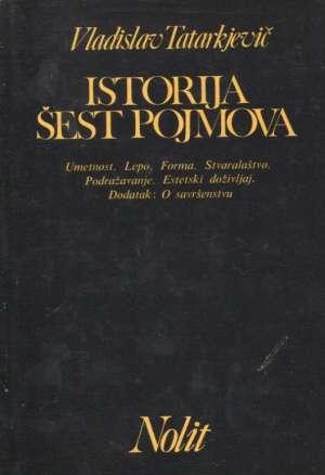 Istorija šest pojmova Vladislav Tatarkjevič tvrdi uvez