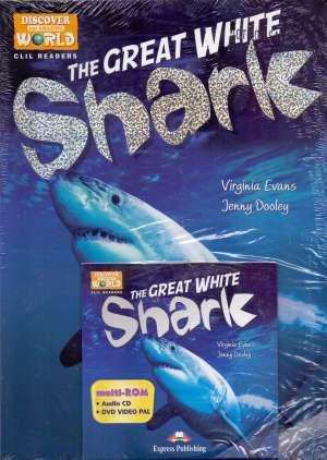 The great white shark + DVD - novo Virginia Evans, Jenny Dooley meki uvez