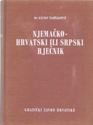 Njemačko hrvatski ili srpski rječnik Gustav Šamšalović tvrdi uvez
