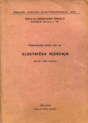 Električka mjerenja Boris švarcmajer meki uvez