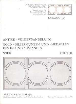 Antike, volkerwanderung, gold, silbermunzen und medaillen - katalog 307 * G.a. meki uvez