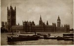 Dopisnice - London - houses of parlament