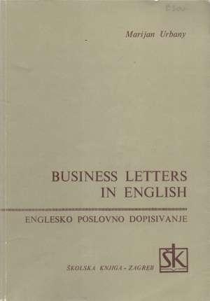 Marijan Urbany - Business letters in English