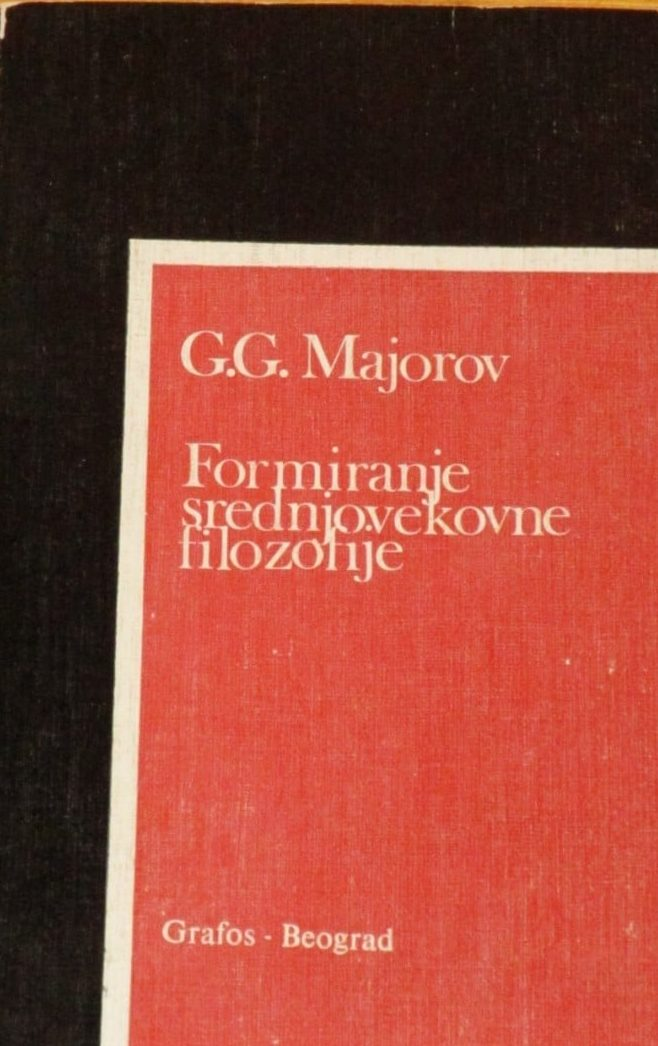 Formiranje srednjovekovne filozofije G. G. Majorov meki uvez