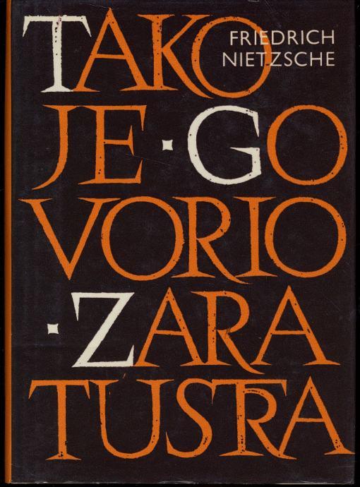 Tako je govorio Zaratustra Friedrich Nietzsche tvrdi uvez