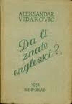 Da li znate engleski Aleksandar Vidaković tvrdi uvez