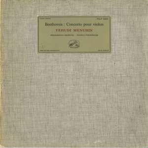 Gramofonska ploča Beethoven / Yehudi Menuhin / Philharmonia Orchestra /  Wilhelm Furtwängler Concerto Pour Violon FALP 30041, stanje ploče je 10/10