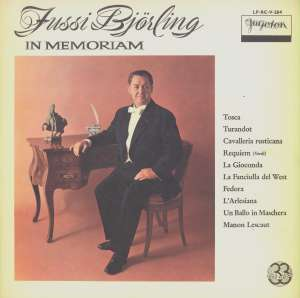Gramofonska ploča Jussi Björling In Memoriam LP-RC-V-204, stanje ploče je 10/10