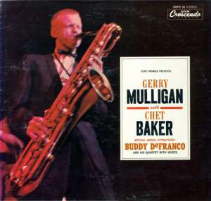 Gramofonska ploča Gerry Mulligan With Chwt Baker Gene Norman Presents Gerry Mulligan With Chet Baker LPL 743, stanje ploče je 8/10