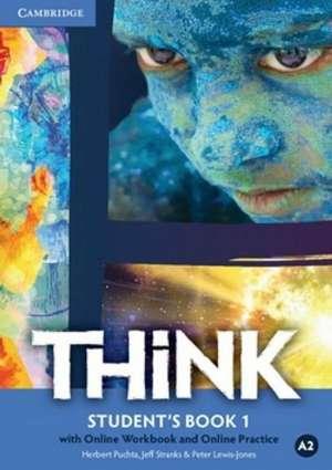 Herbert Puchta, Jeff Stranks, Peter Lewis-Jones, Autor - THINK A2: udžbenik engleskog jezika s dod. digitalnim sadržajima za 1. razred gimnazija i četverogodišnjih strukovnih škola