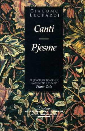 Leopardi Giacomo, Autor - Canti, pjesme