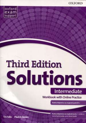 SOLUTIONS 3rd ed. INTERMEDIATE: radna bilježnica engleskog jezika B1+  za <b>gimnazije i 4-godišnje strukovne škole</b>  autora Tim Falla, Paul A. Davies