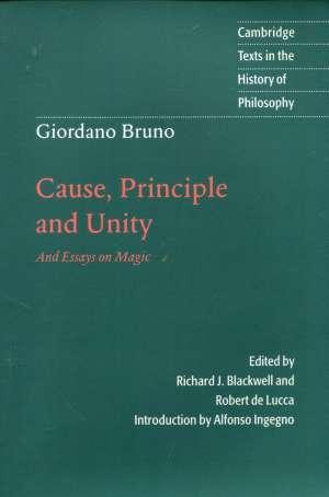 Giordano Bruno, Autor - Cause, principle and unity