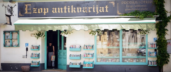 ezop antikvarijat knjige udžbenici gramofonske ploče cd-i i stare razglednice Osijek