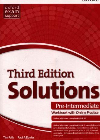 Tim Falla, Paul A. Davies - SOLUTIONS 3rd ed. PRE-INTERMEDIATE: radna bilježnica engleskog jezika B1 za gimnazije i 4-godišnje strukovne škole