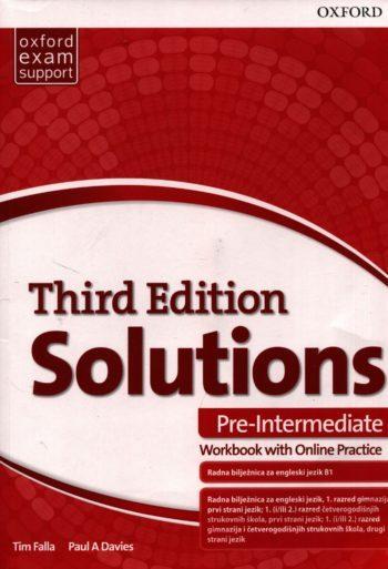 SOLUTIONS 3rd ed. PRE-INTERMEDIATE: radna bilježnica engleskog jezika B1 za gimnazije i 4-godišnje strukovne škole autora Tim Falla, Paul A. Davies